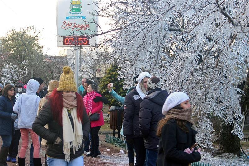 El sur de Brasil registra temperaturas mínimas y nieve por masa de aire polar