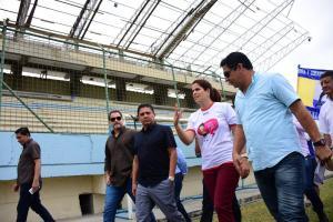 Ministra del Deporte visita por primera vez la provincia de Manabí