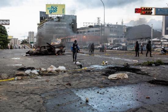 Detienen a 5 policías por muerte de 2 manifestantes durante paro en Venezuela