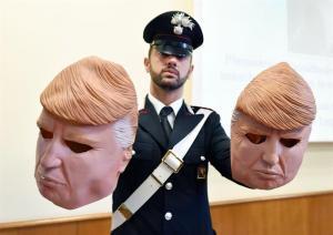 Capturan a dos hermanos que robaban cajeros con máscaras de Trump
