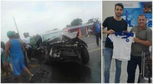 Nuevo refuerzo del club Santa Rita se salva de morir en accidente