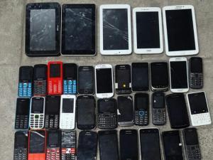 Con celulares robados
