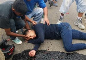 Motociclista herido en accidente de tránsito en Portoviejo
