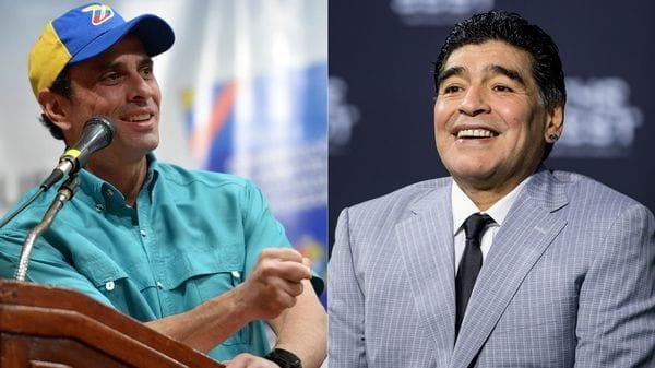 Maradona a Capriles: 'La diferencia entre vos y yo es que yo no me vendí'