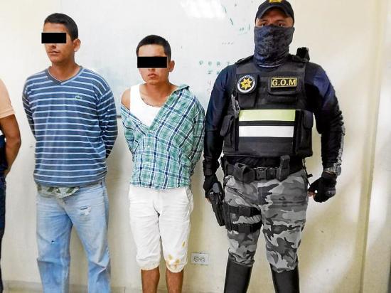Capturados luego de una persecución