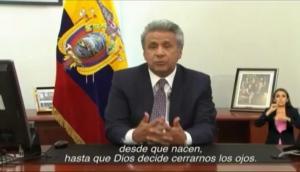 Lenín Moreno lamenta la situación que atraviesa Venezuela