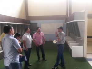 Comité de la FEF realiza inspección en el estadio Jocay