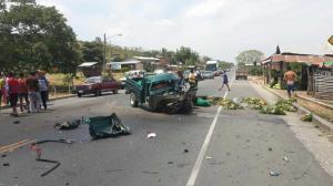 Cinco personas heridas producto de un accidente de tránsito en la vía Rocafuerte-Tosagua