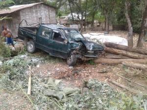 Tres heridos deja accidente de tránsito en la vía Junín-Portoviejo