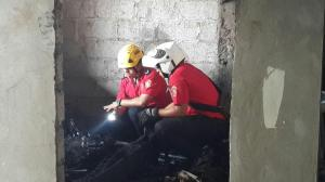 Incendio consume la habitación de una vivienda en Manta