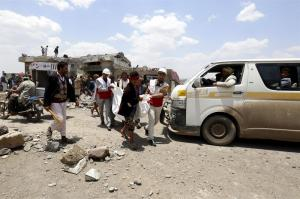 Al menos 43 muertos tras una serie de bombardeos en la capital de Yemen