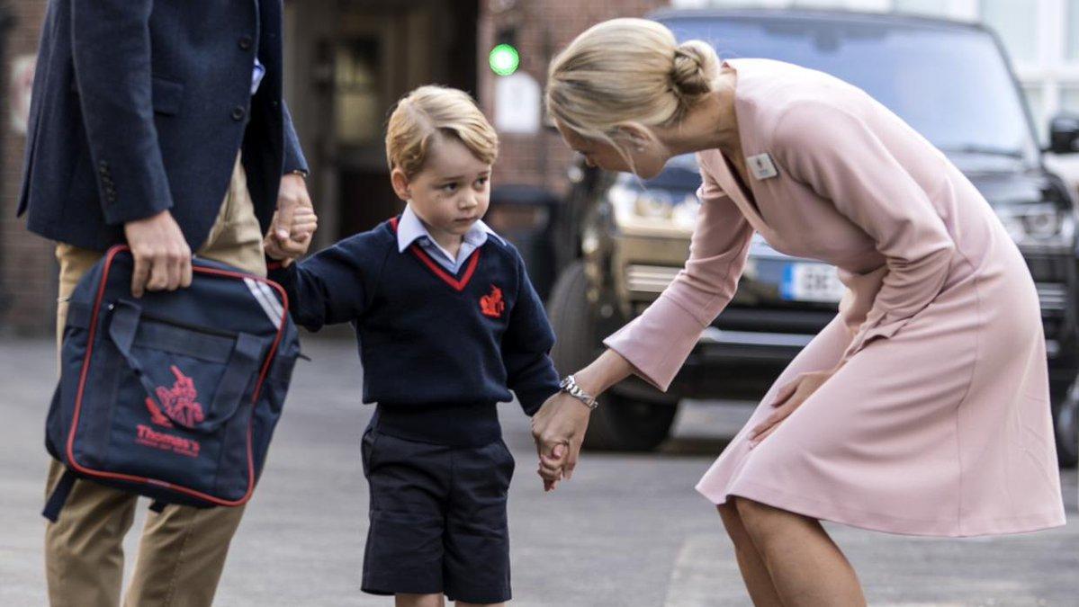 El príncipe George de Inglaterra asistió a su primer día de colegio