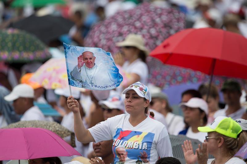 Unos 6,8 millones de colombianos se movilizaron para ver al papa Francisco