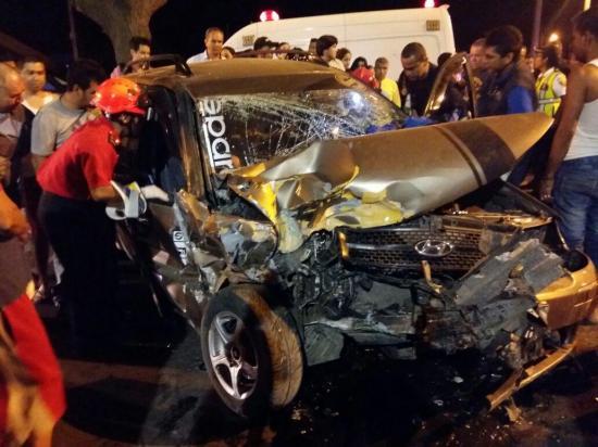 Accidente en la vía Portoviejo-Manta deja un herido