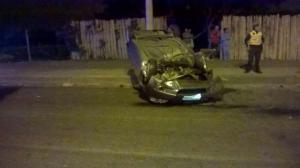 Accidente de tránsito en Los Cerezos de Portoviejo deja una pareja herida