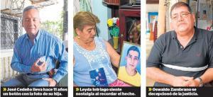 Tres muertes llevan diez años sin justicia