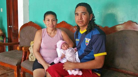 Bebé ya tiene nombre y será bautizada en el Mall del Pacífico