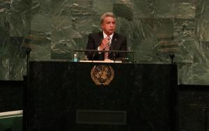 Moreno defendió hoy en la ONU el principio de 'ciudadanía universal y libre movilidad'