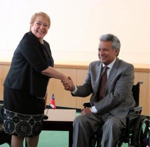 Lenín Moreno mantiene reuniones bilaterales con homólogos de Chile y Bélgica