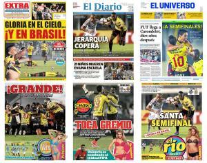 La prensa ecuatoriana destaca la 'soñada' clasificación de Barcelona SC