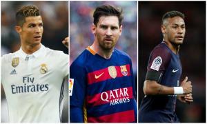 Cristiano, Messi y Neymar pugnarán por el premio 'The Best' a mejor jugador