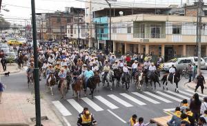 Festejo con cabalgata