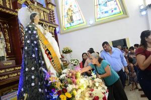 Portoviejo: Militares rindieron honores a la Virgen de la Merced