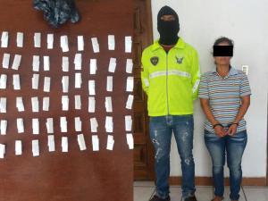 Le encontraron 305 dosis de cocaína