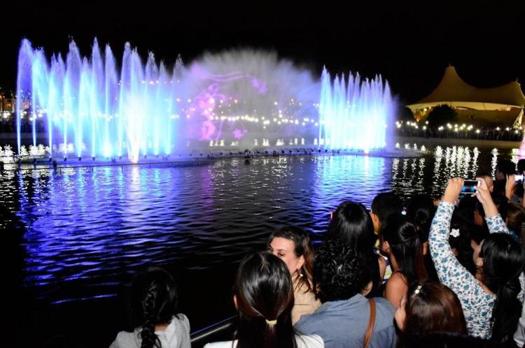 Luces, alegría y festejo en la inauguración del parque La Rotonda