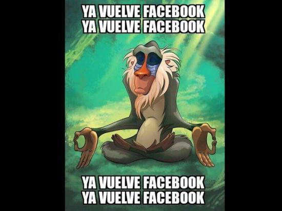 Facebook sufrió un fallo a nivel mundial y los memes no esperaron