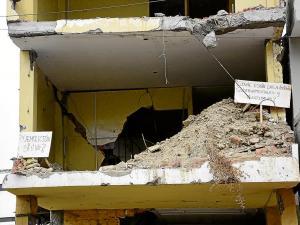 Llegó dinero para más demoliciones en Portoviejo