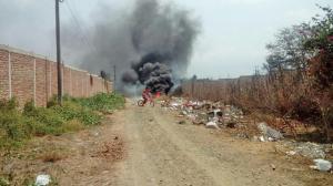 Quema de basura causó alerta en moradores de la ciudadela Montalván de Montecristi