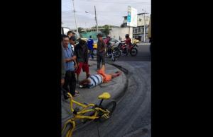 Hombre resulta herido en accidente de tránsito en la parroquia Andrés de Vera