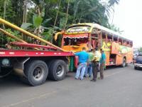 Siete personas heridas deja accidente de tránsito en la vía Santa María - El Carmen