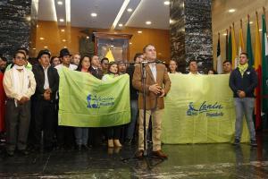 Presidente de la Asamblea expresa su total apoyo a Lenín Moreno