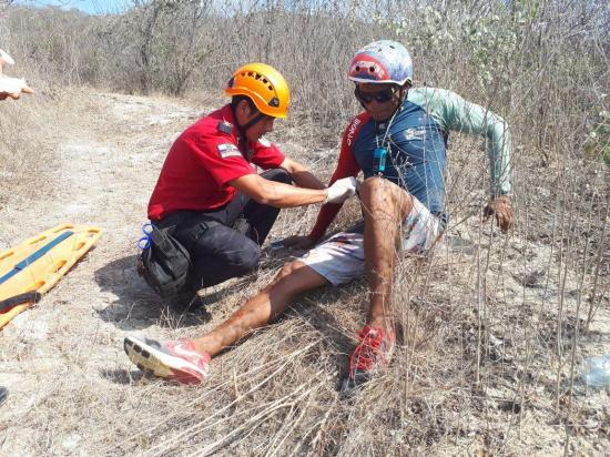 Deportistas heridos en Crucita