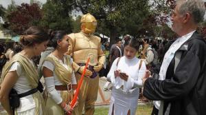 Los personajes de Star Wars toman la universidad San Francisco de Quito