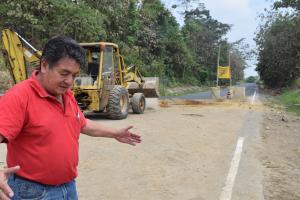 Desde ayer se abrió la vía a San Carlos