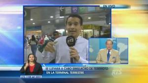 Periodista de RTS confunde en vivo temblor con simulacro