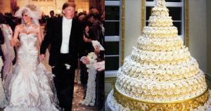Venden un trozo de pastel de la boda de Trump con Melania por 2.240 dólares