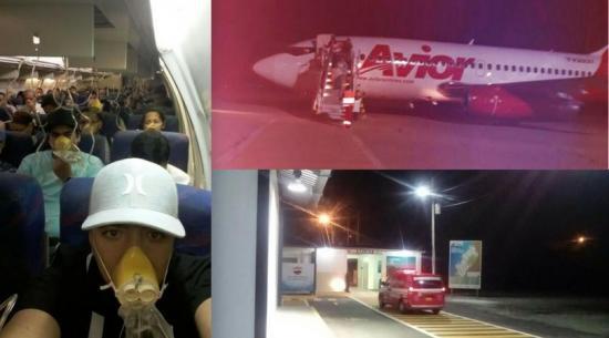 Avión aterrizó de emergencia en Manta