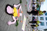 Realizan marcha pacífica por el eliminación de la violencia contra la mujer, en Manta
