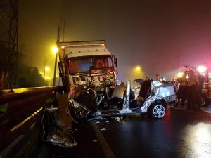 Tres muertos y cuatro heridos en accidente de tránsito en la vía Alóag-Santo Domingo
