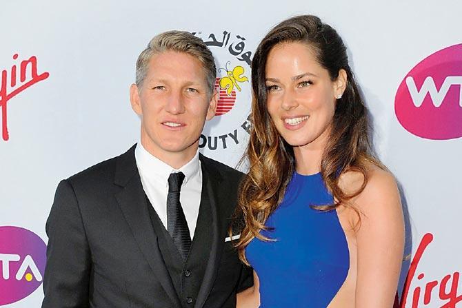 El futbolista Bastian Schweinsteiger y la extenista Ana Ivanovic esperan su primer hijo