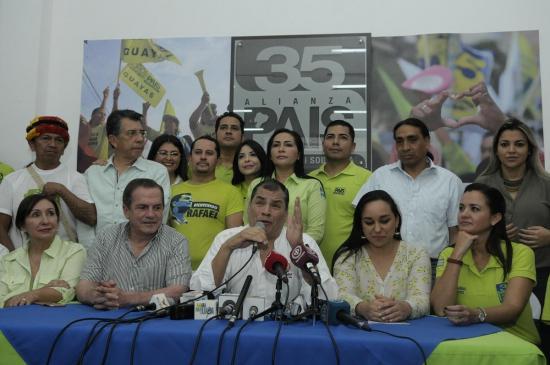 Rafael Correa arremete contra Lenin Moreno desde Guayaquil