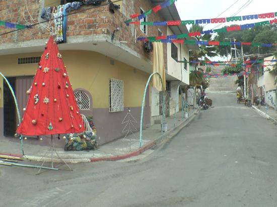 Vecinos de Santa Lucía se unen para engalanar las vías principales