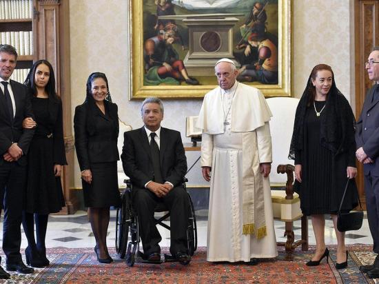Moreno se reunió con el papa Francisco para hablar de la Amazonía