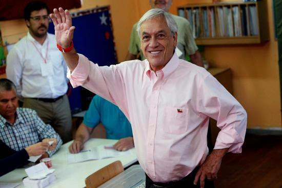 Sebastián Piñera, ganador de las elecciones presidenciales chilenas