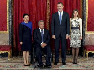 El presidente Moreno y el rey Felipe VI dialogan sobre cooperación bilateral