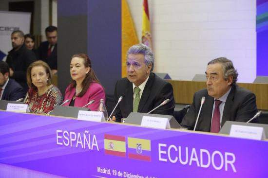Moreno ofrece a empresas españolas 'oportunidades para invertir' en Ecuador